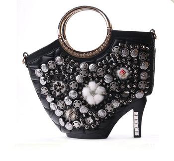 Женщины мода европейский и американский стиль сумки благородные высокие каблуки личность сумки на ремне , плюшевые старинные сумка WB196