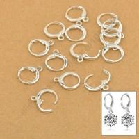 Good Quality Jewellery Findings Genuine 925 Sterling Silver Lever Back Ear DIY Drop Loop Earring 13MM Components