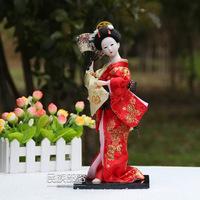 Japanese geisha maiko doll resin humanoid tatami real Home Furnishing decoration Doll 12 inch doll A10