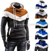 2015 Hot Sale Hoodies Men Fleece Patchwork Designer Sweatshirt Sudaderas Hombre Mens Hoodies Sweatshirts Moleton Masculino M-XXL