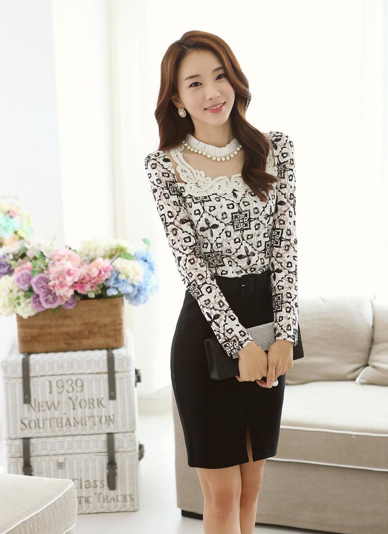 Korean White Blouse 4