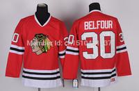 Men's Chicago Blackhawks #30 Ed Belfour Hockey Jerseys Vintage #30 Ed Belfour Jersey CCM Home Red Throwback Cheap Stitched