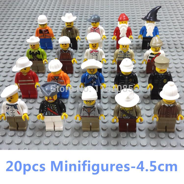 20pcs/lot! Building Blocks Minifigures Toys Santa Police Compatible with Lego DIY Educatioinal Learning Toys for Boys brinquedos(China (Mainland))