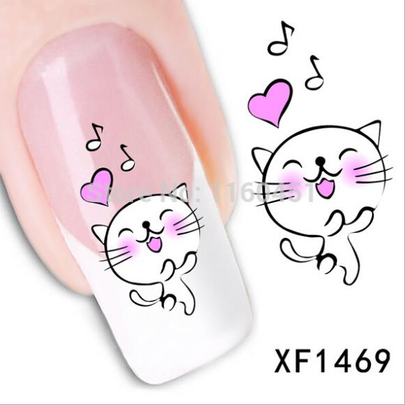 Наклейки для ногтей Water Nail Decal 2015 1 XF Nail Art stickers born pretty bp w07 anchor stripe nail art water decals transfer stickers nail art decorations 20598