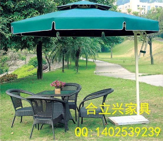 Aluminum manufacturer promotions round outdoor rattan chairs umbrellas double top Celi umbrella umbrella image advertising sales(China (Mainland))