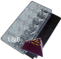 (2Pcs/Lot )Triangle Shape Magnetic Chocolate Mold Polycarbonate Chocolate Mold