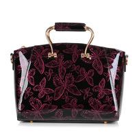 Hot High Quality 2014 New Fashion Women Bowknot Patent Leather Handbag Hand Shoulder Diagonal Bag stereotypes Messenger Bags