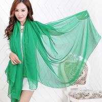 New Style Scarf Fashion Solid scarves  Female models chiffon scarf super long scarf Women Scraf Bufanda
