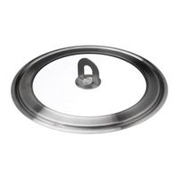 1 piece 11 inch diameter stainless steel and glass pot cover pot lid
