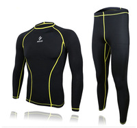 New athletic compression tights base layer running Fitness bodybuilding cycling men sports wear clothing shirt pant jersey suit