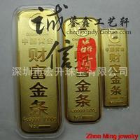 Pure copper plating version sample simulation gold bars gold shop decoration wealth 10-1000