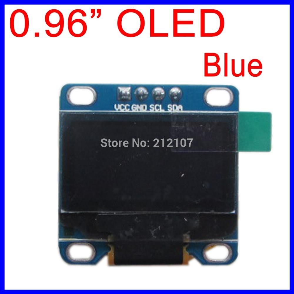 """Blue 128X64 OLED LCD LED Display Module 0.96"""" I2C IIC SPI Serial(China (Mainland))"""