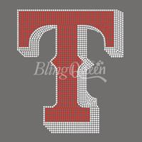 25PCS/LOT Custom Iron On Rhinestone Appliques Texas Logo Design