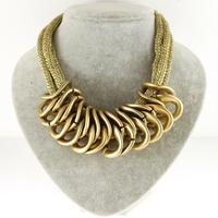 2015 New fashion Bohemian Style Necklace Punk Fashion Simple Metal Accessories Chain necklaces & Pendants Woman Necklace Za 2015