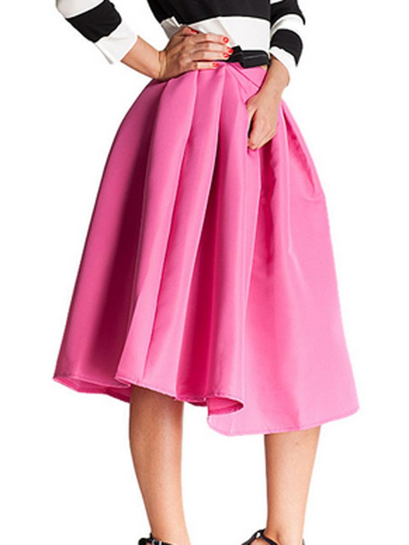 High Waisted Pink Skirt