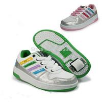 Children Sneaker Girls Boys Breathable Gauze Rollerskate Adult Child Shoes Kids Sneakers Wheel Shoes Skate Roller Shoes