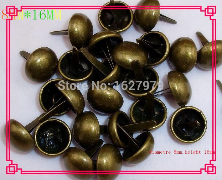 ancient foot feet bucket nail coated bags foot mushrooms hardware nails decorative foot nail smooth(China (Mainland))