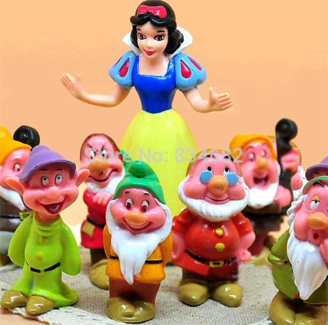 J.G Chen Princess Snow White and the Seven Dwarfs PVC Action Figures Dolls Toys 8pcs/set Classic Toy Figure Collection(China (Mainland))