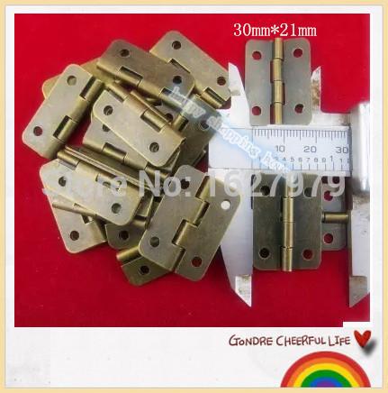 antique hinge 30*21MM flat wooden wine box iron hinge small thickness of 0.8MM(China (Mainland))