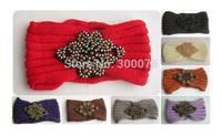 Infinity Beaded Flower Jewel Knitted  Headbands Hair band Winter HeadWrap