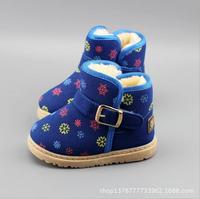 2014 New winter children's snow boots Korean version boys Girls Child cotton shoes short boots