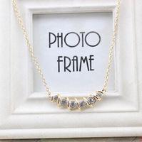 Promotion! Wholesale! Fashion lady women necklaces & pendants all-match elegant sparkling rhinestones geometric necklaces SN591