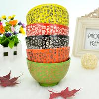 Unique ceramic bowl japanese ramen style lovers cup multicolour rice set bowl tableware