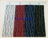 Music symbol gold PRINT Viscose style Scarf shawl NEW