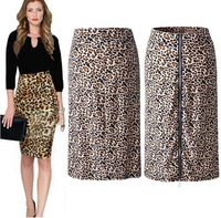 New European and American fashion sexy leopard woman skirt