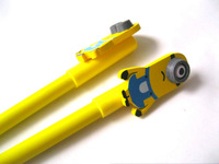 8Yellow people shock neutral pen stationery pen The one-eyed lovely long black pen