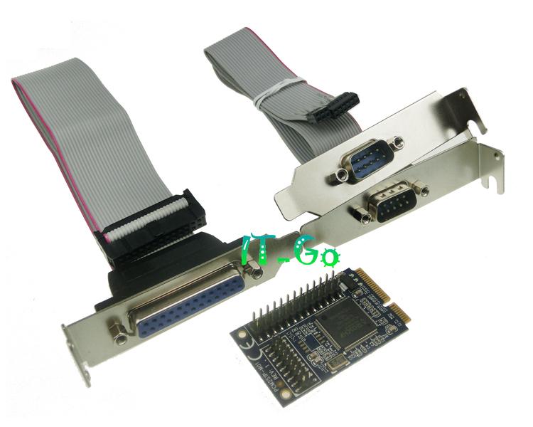 Free shipping Mini PCI-e express to 2 Serial + 1 Parallel port Controller Card mini PCI-e card for Mini ITX(China (Mainland))