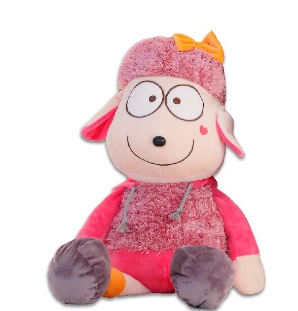 factory wholesale size 40 cm cartoon Long legs sheep plush toy small pendant stuffed animals doll Valentine Christmas gifts(China (Mainland))