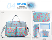 Hot Sale 9 Color Multifunctional Mommy Handbag Cotton Child Changing Bag Baby Diaper Pram Bags With Big Capacity Free Shipping
