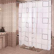 Cortina de chuveiro de plástico com 12 ganchos Black & white grade impressão cortinas à prova de água para banheiro todos os tipos tamanhos decoração do banheiro(China (Mainland))