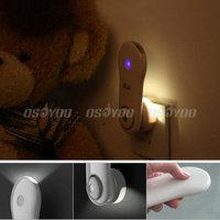 10pcs/lot New Arrival 5 LED Smart Light Sensor Emergency Night Lamp w/ Torch Flashlight