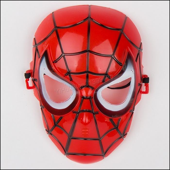 Atacado 100 pcs SpiderMan máscara do partido para meninos crianças Roleplay Make up Brithday Chrismas presente do dia das bruxas Cosplay de boa qualidade(China (Mainland))