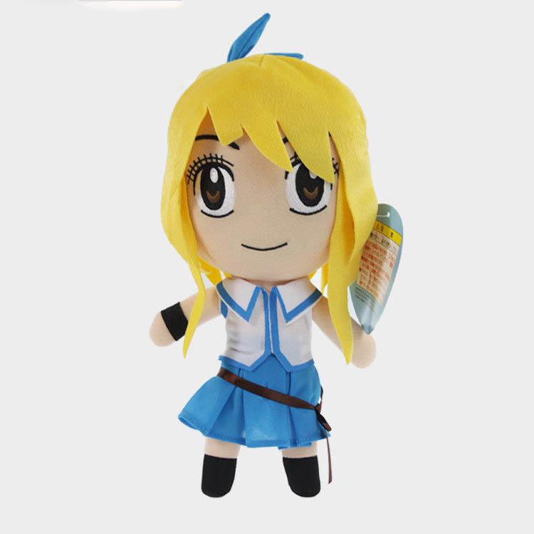 5pcs/lot 30cm Japanese Anime Cartoon Fairy Tail plush toy Lucy Heartphilia Plush Toy(China (Mainland))