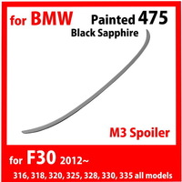 ABS Painted Trunk Spoiler 475 Black Sapphire for BMW F30 M3 316 318 320 325 328 335 F80