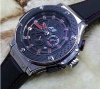 Fashion Round Dial Silicone Wristband Men Wristwatch