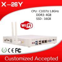 embedded mini computer mini desktop computer thin client pc X-26Y 2 lan 4GB RAM 16GB SSD support Windows 98, Windows 2000 etc.