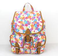 New 2015 Hot selling backpacks canvas waterproof travel bags Fashion brand flowers school bags backpack for women  H007 orange
