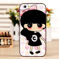 Iphone6 following Drawing cartoon shell plus border case tpu silicone shell.