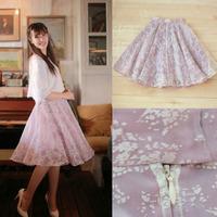 Wholesale 2015 New Women Skirt Organza Mesh Chiffon Long Printed Skirt High Quality Pink Free Shipping