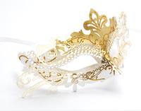 Halloween masquerade party princess mask female metal mask fox cosplay mask female