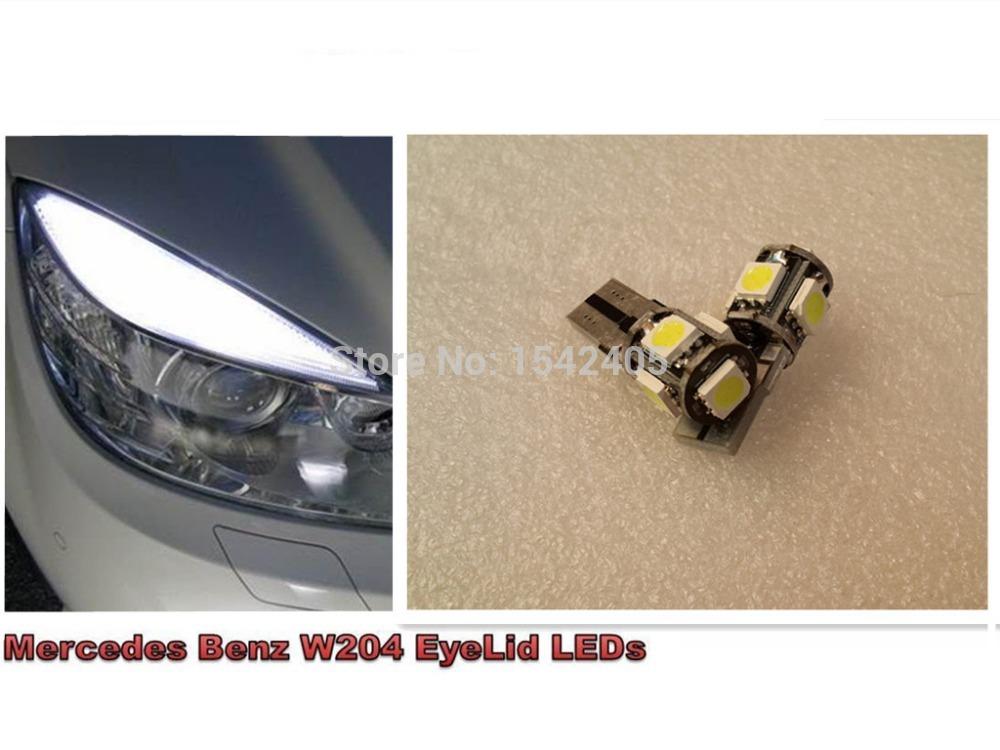 4x White Error Free Eyebrow Eyelid Light LED Bulb Mercedes Benz W204 C350(China (Mainland))