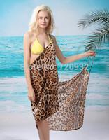 Sexy sling beach wear dress Three materials women 's sarong summer bikini cover-ups wrap Pareo skirts towel Open-Back swimwear