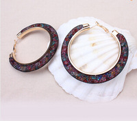 1pair 2015 New Fashion Women Earrings Brand Stardust Crystal Earrings Wholesale And Retail