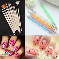 2015 HOT High quality 15pcs Nail Art Design Set Dotting Painting Drawing Polish Brush Pen Tool zlSA177