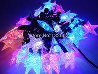 5pcs/lot Led Modeling String lights 5M 50led AC110V/220V Colorful Flashing Holiday Party Christmas Wedding Fairy lights