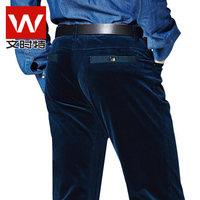New winter men's business casual corduroy jeans / straight denim long trousers Korean tidal 015
